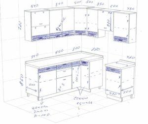 Эскиз кухонь 10 и 23